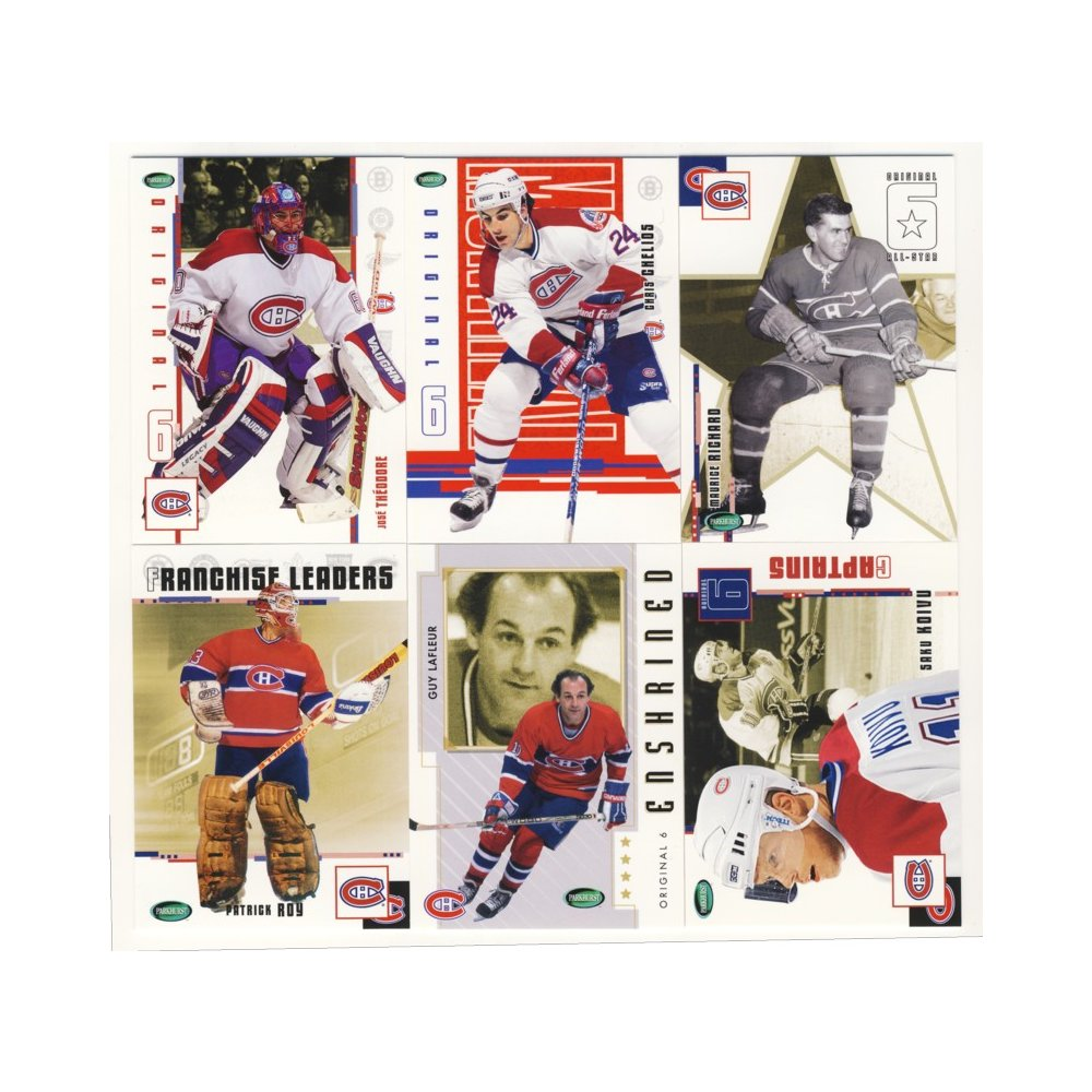 2003-04 Parkhurst Original Six Hockey Montreal Canadiens 100-Card Set 6c6b23c42