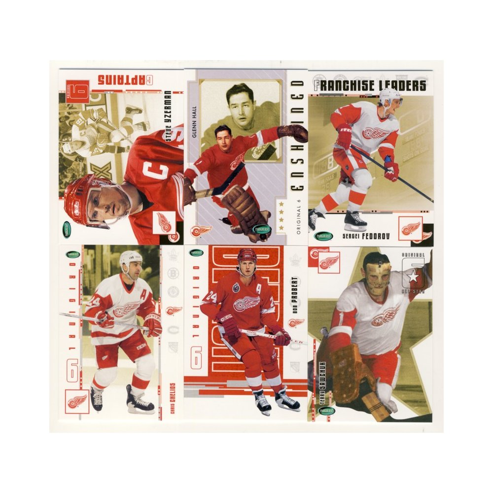 2003-04 Parkhurst Original Six Hockey Detroit Red Wings 100-Card Set ... 38f0ad671