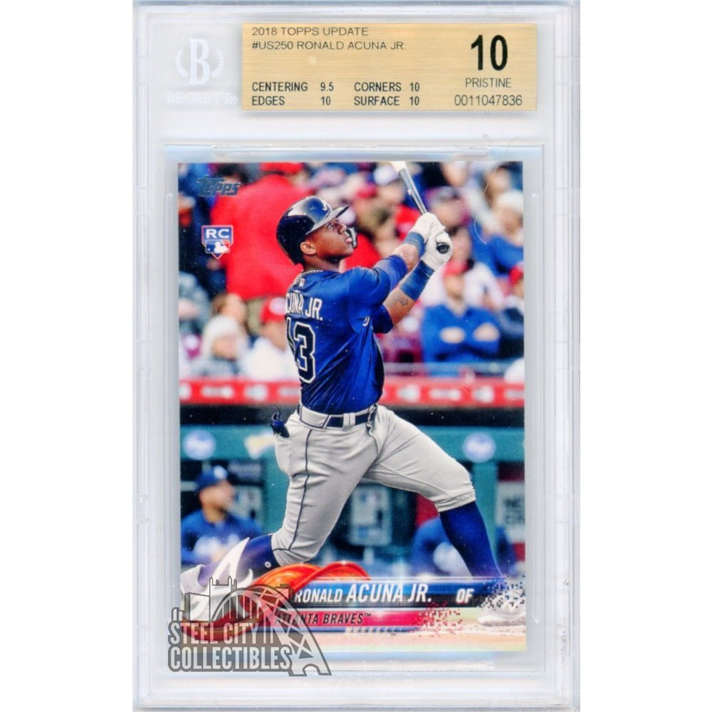 Ronald Acuna Jr 2018 Topps Update Baseball Rookie Card Rc Us250 Bgs 10 Pristine