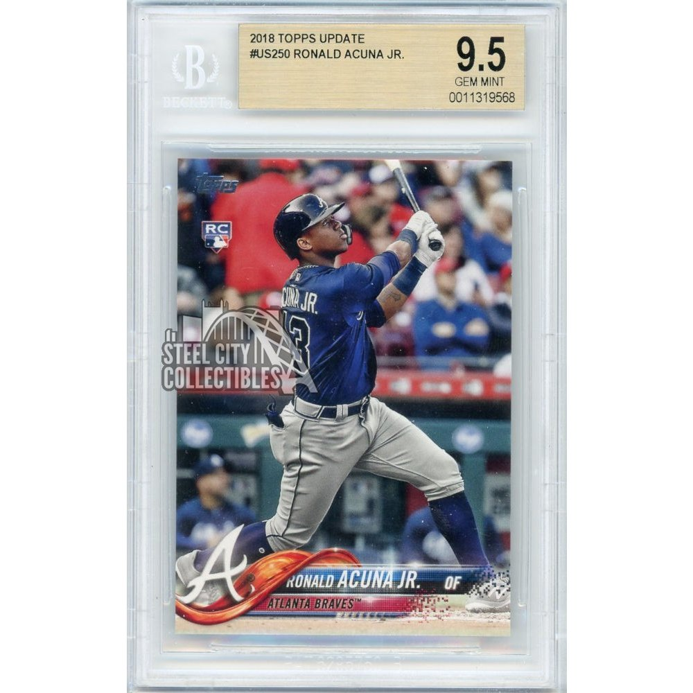Ronald Acuna Jr 2018 Topps Update Baseball Rookie Card Rc Us250 Bgs 95