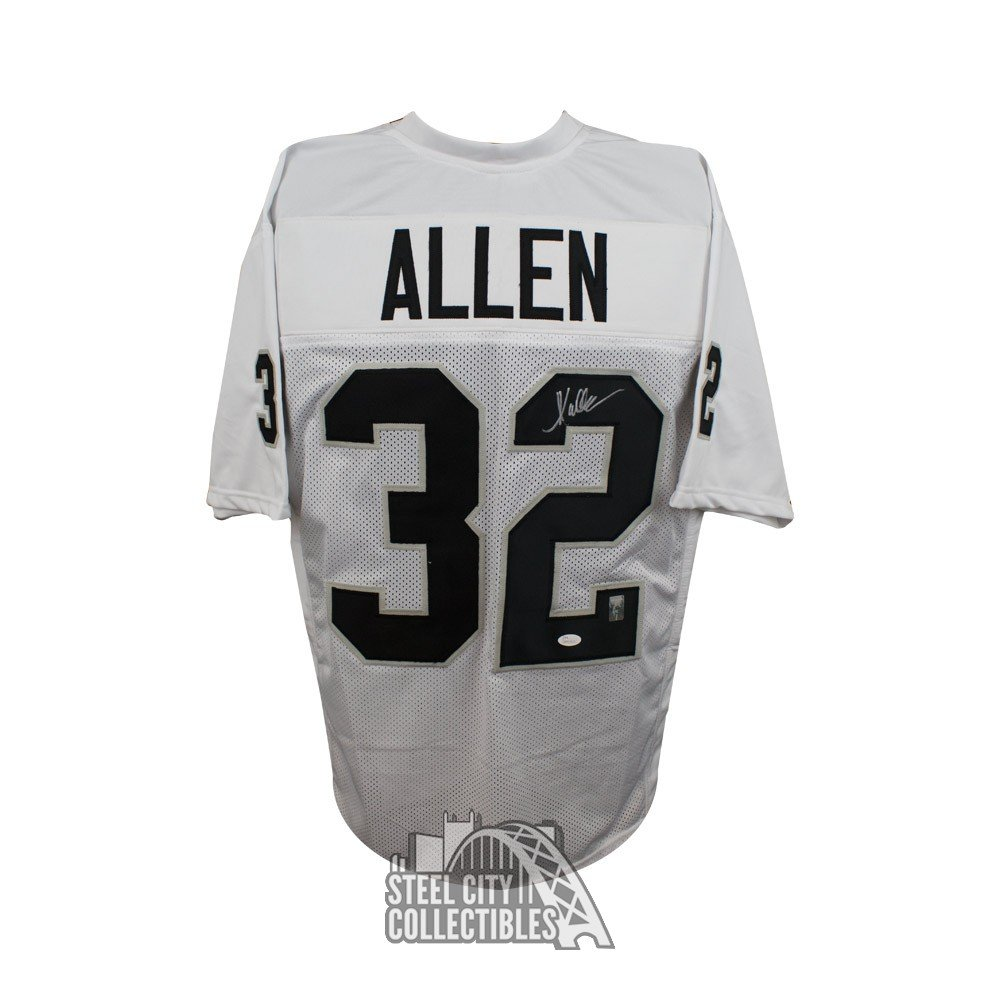 size 40 7be52 1df47 Marcus Allen Autographed Oakland Raiders Custom White Football Jersey - JSA  COA