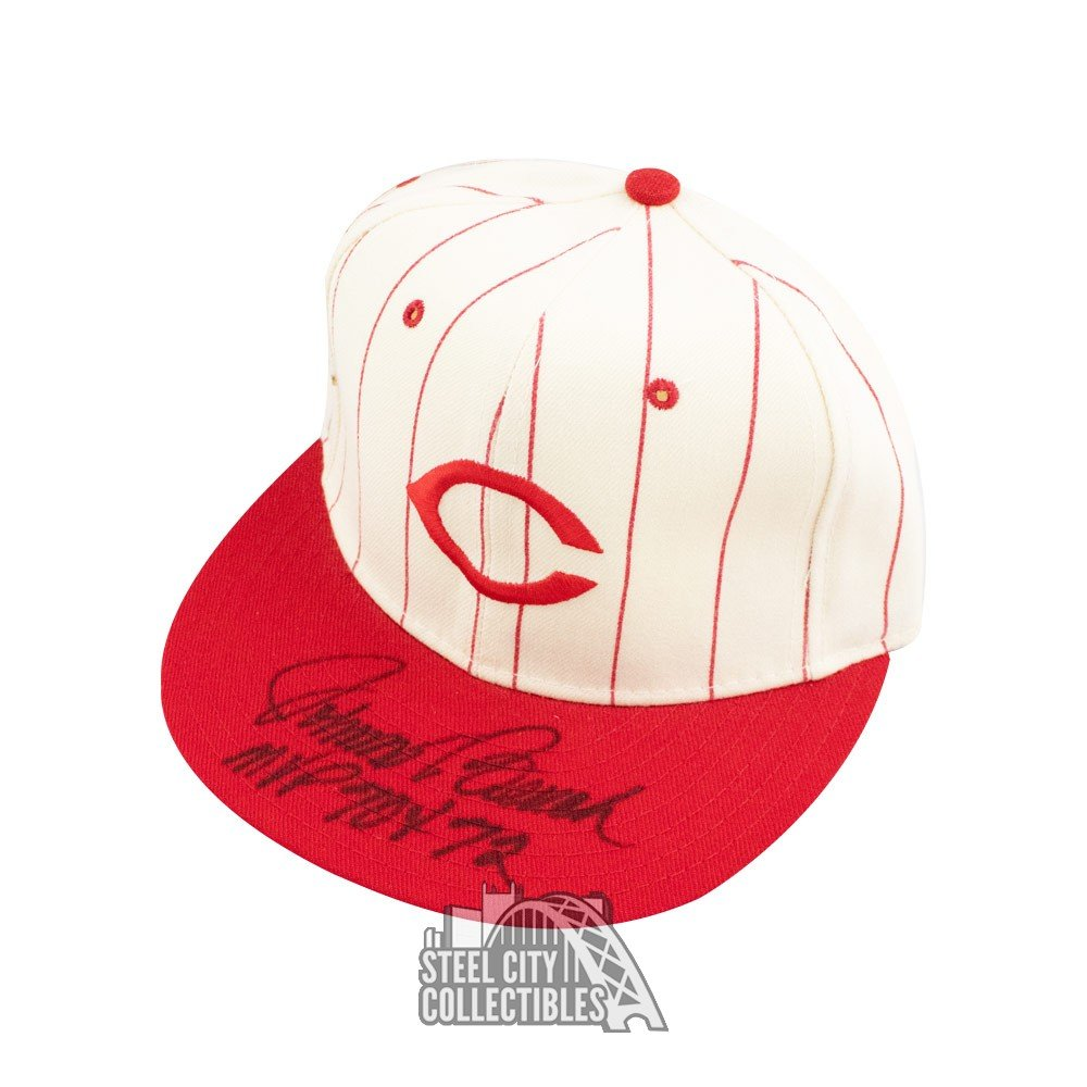 Johnny Bench Autographed Cincinnati Reds Hat Autographs and Signed Memorabilia