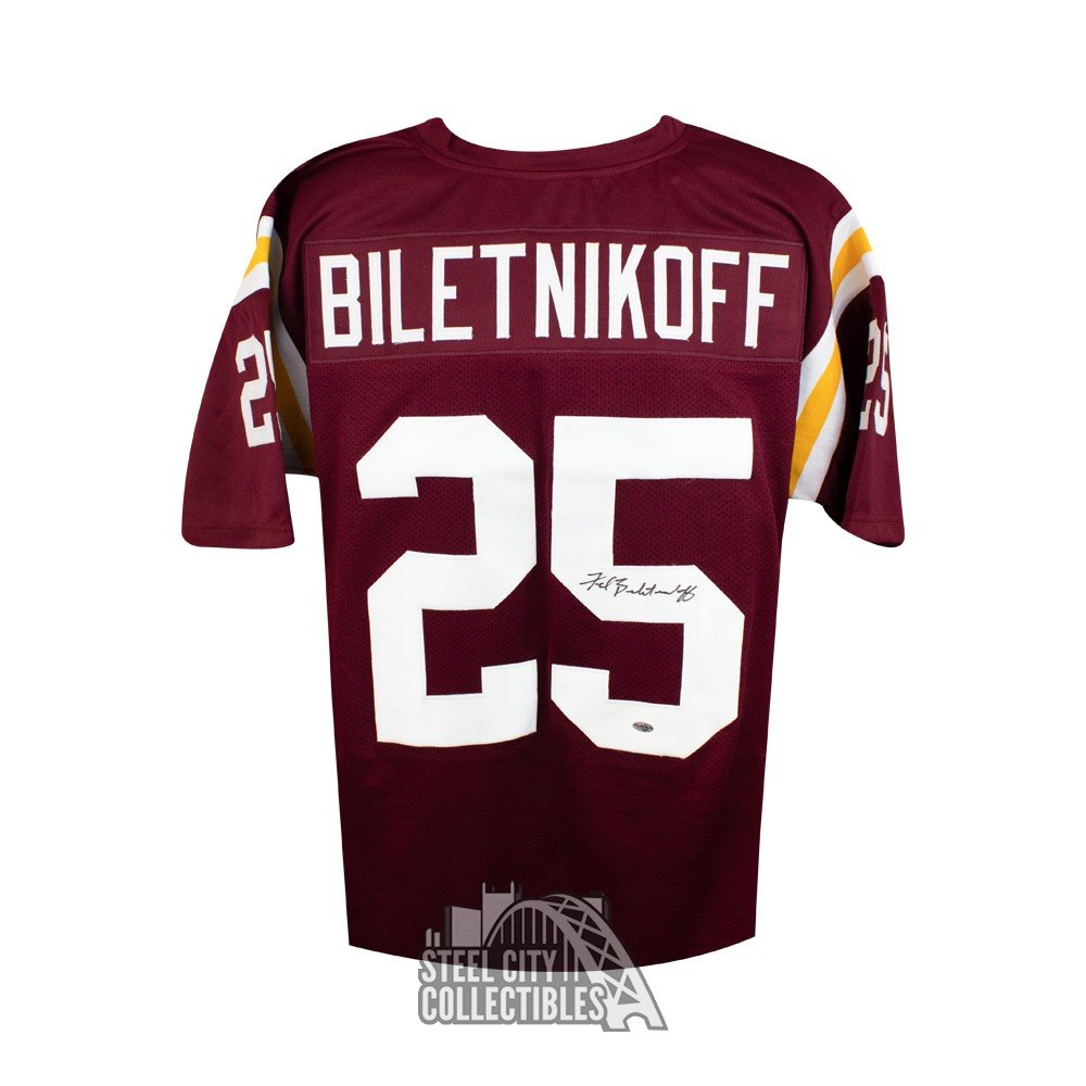 best service e8642 d4368 Fred Biletnikoff Autographed Florida State Custom Football Jersey - Leaf COA