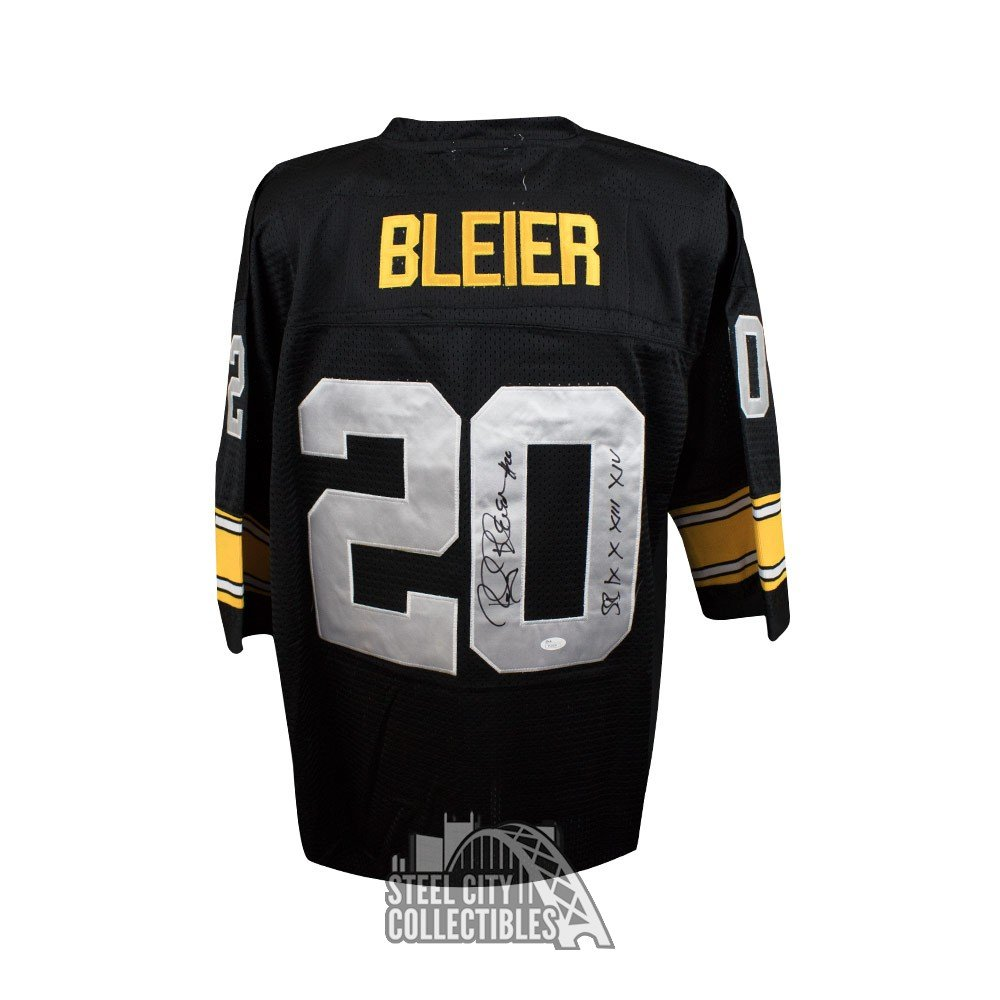 3760afb9cc0 Rocky Bleier Autographed Pittsburgh Steelers Black Mitchell & Ness Football  Jersey - JSA COA | Steel City Collectibles