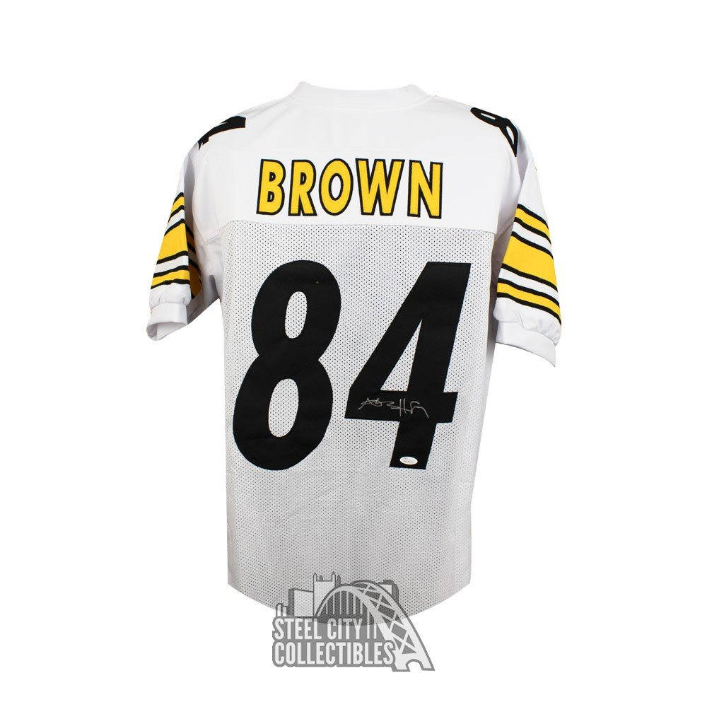 Antonio Brown Autographed Pittsburgh Steelers Custom White ... d9a535bcb
