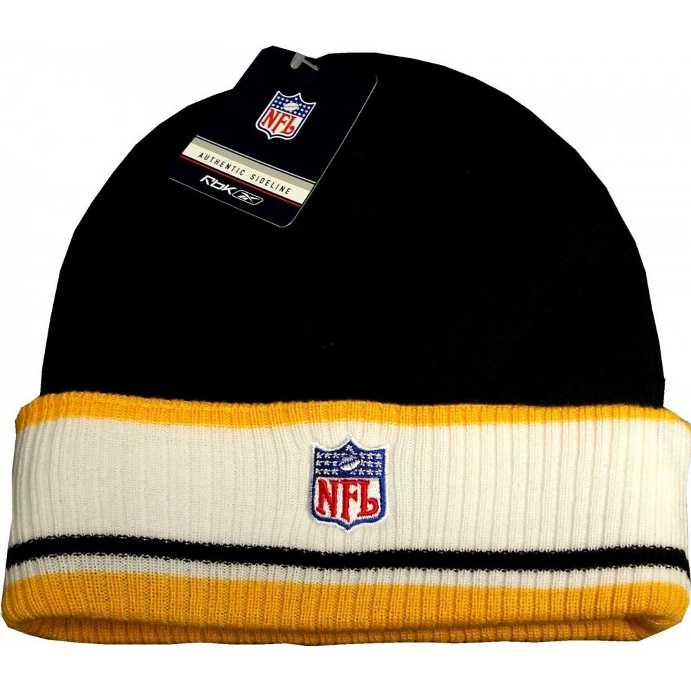 7ef18aba96cb2 Pittsburgh Steelers Reebok NFL Authentic Coaches Cuff Knit Hat ...
