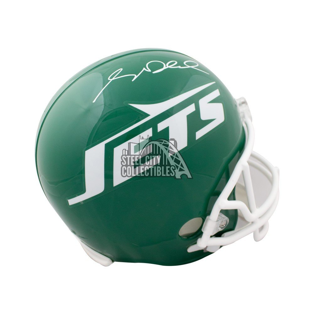 new styles 4df3a aa144 Sam Darnold Autographed New York Jets Throwback Green Full Size Helmet -  JSA COA