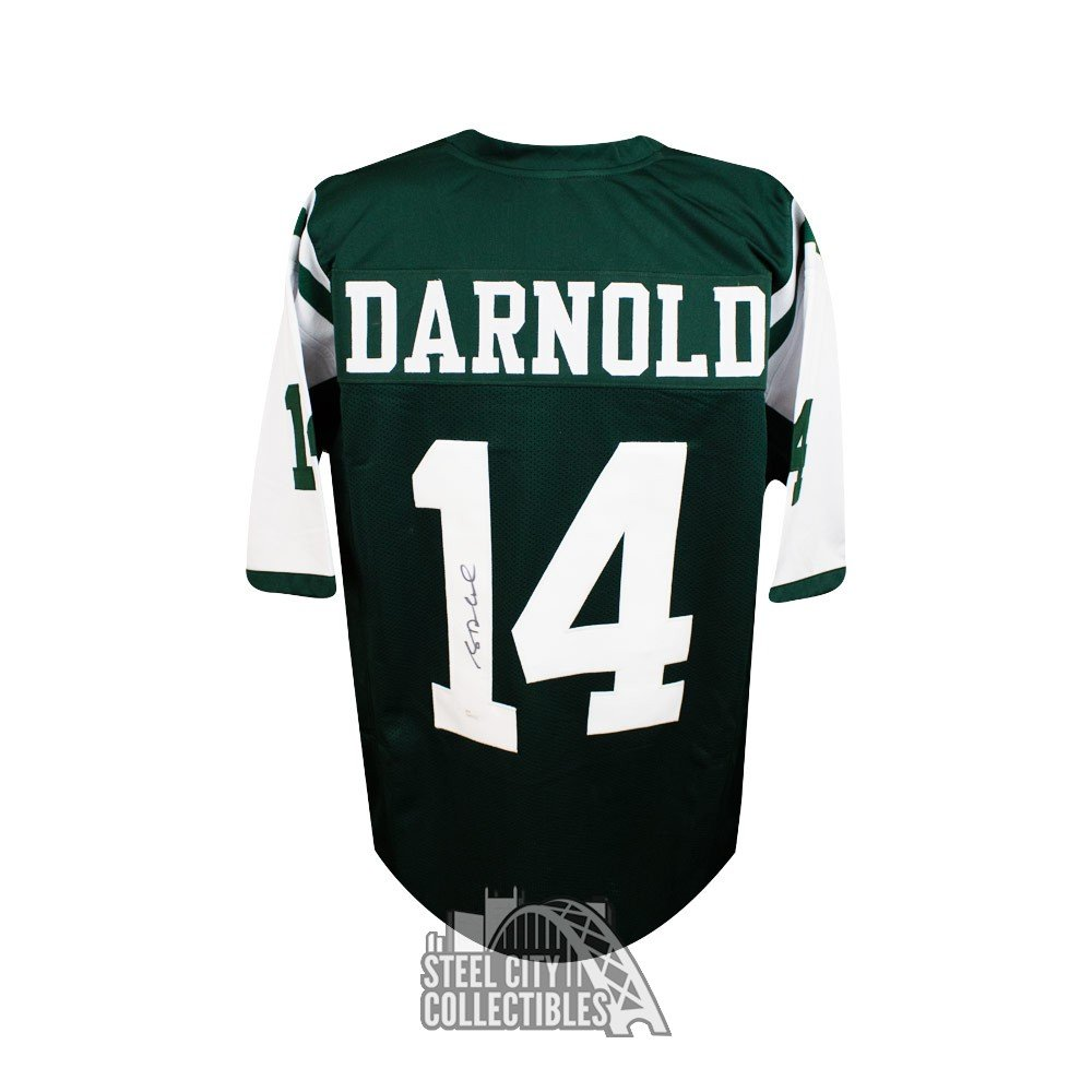 Sam Darnold Autographed New York Jets Custom Green Football Jersey - JSA COA   c3b4031ce