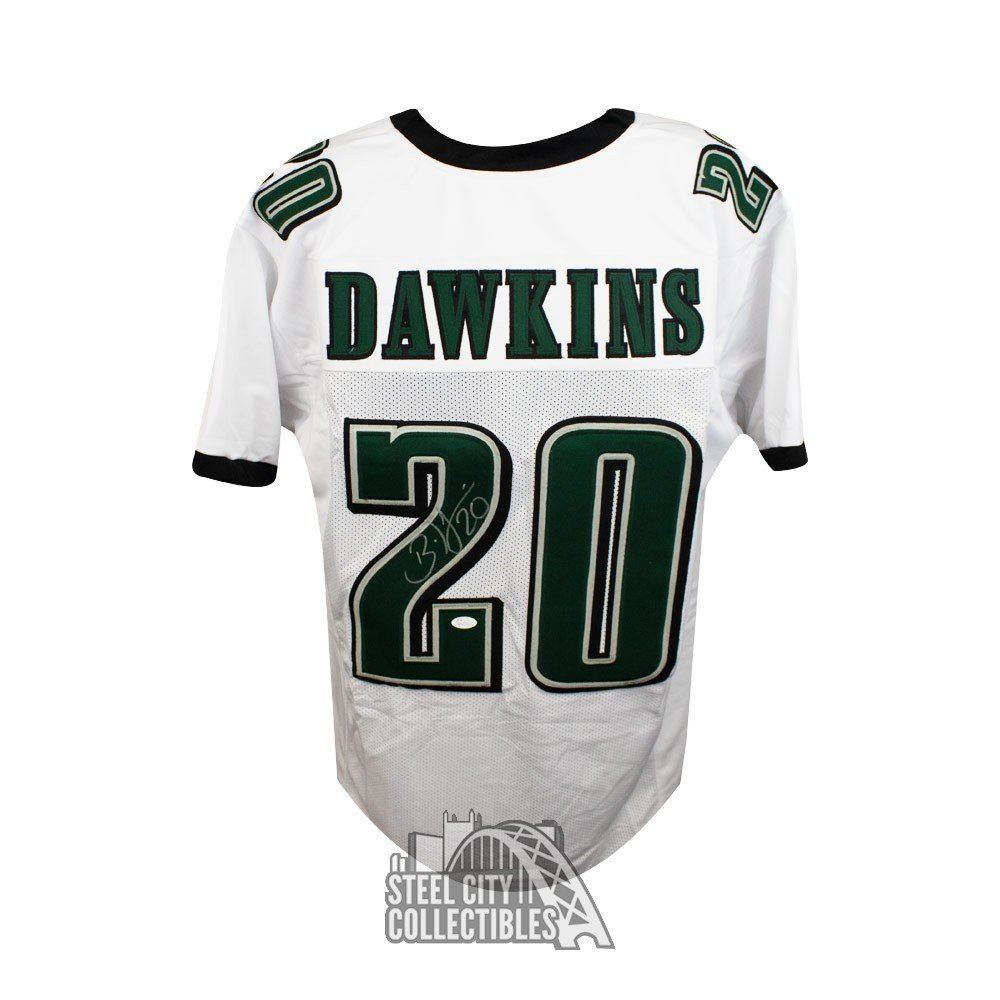 outlet store 5a5ed 5a356 Brian Dawkins Autographed Philadelphia Eagles Custom White Football Jersey  - JSA