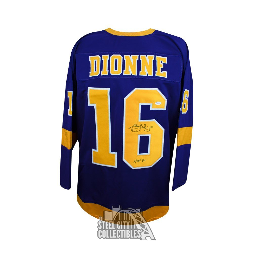 brand new 3bbc1 68d6e Marcel Dionne HOF Autographed Los Angeles Kings Custom Purple Hockey Jersey  - JSA COA