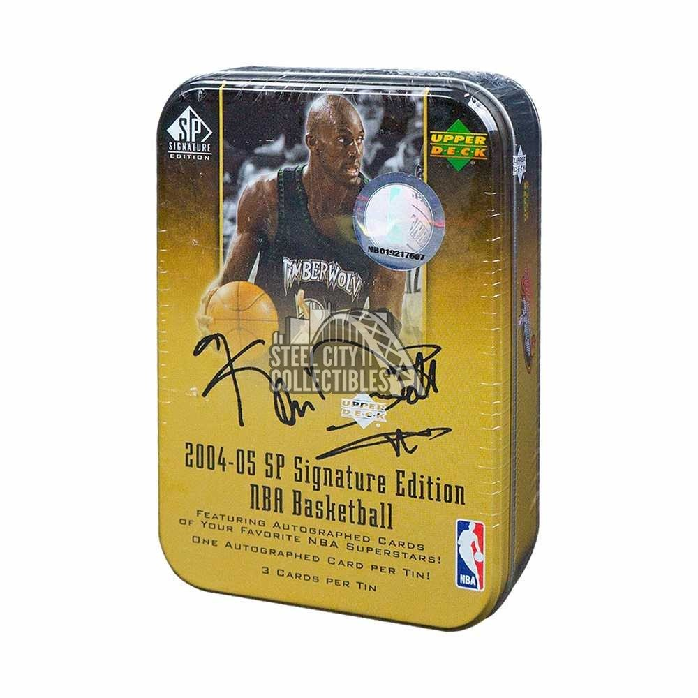 new style d2e41 3fc30 2004-05 Upper Deck SP Signature Basketball Hobby Gold Tin ...