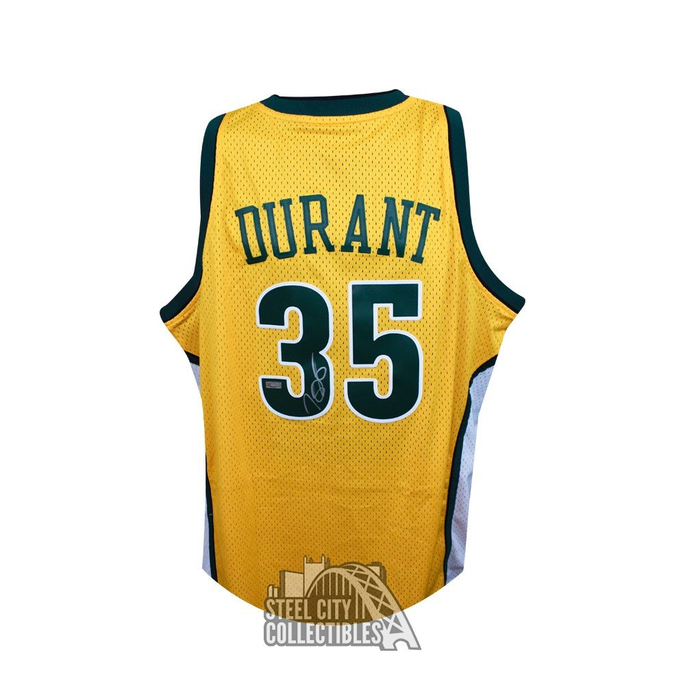 buy popular 7c03a 2ed73 Kevin Durant Autographed Seattle Supersonics Swingman Basketball Jersey -  Panini