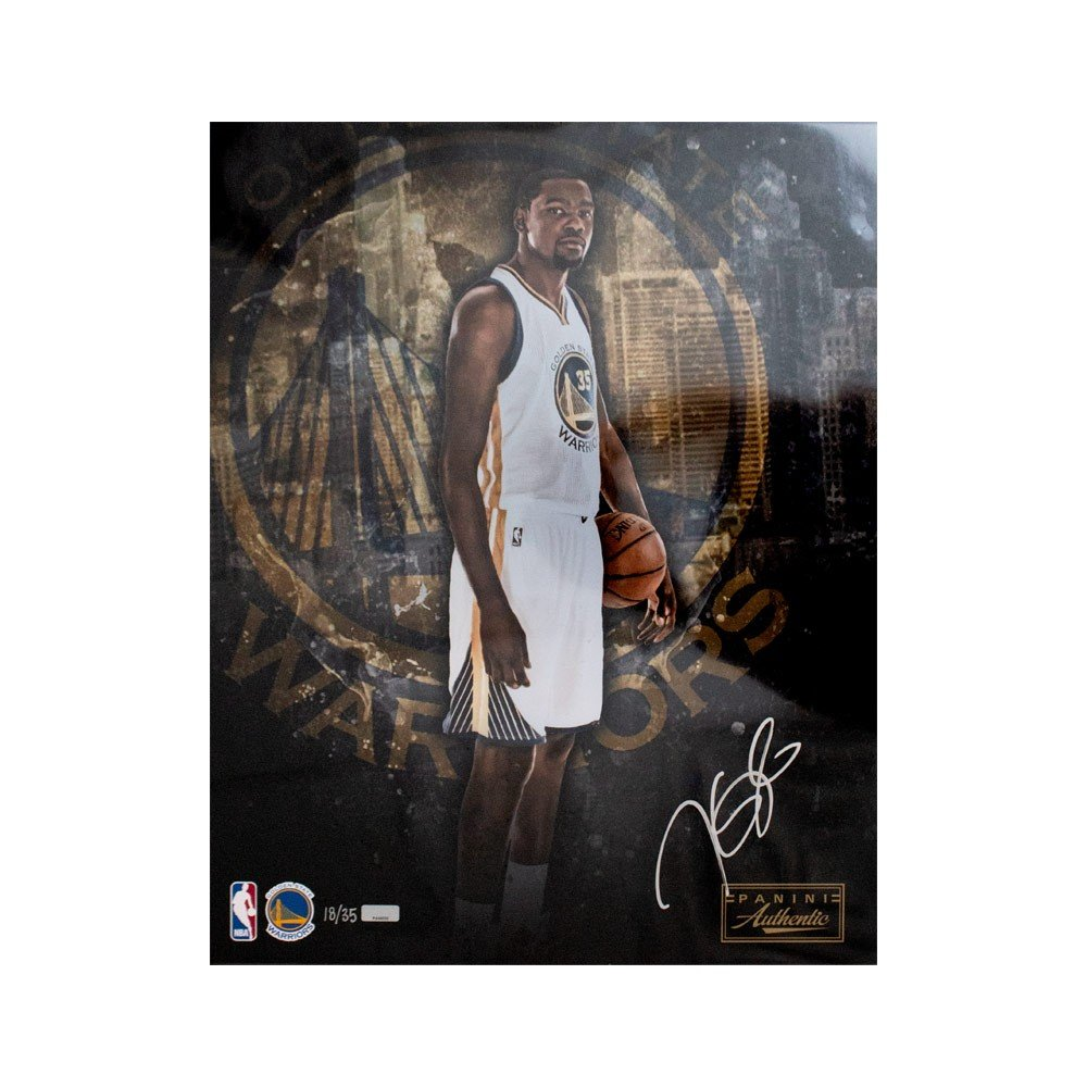 pretty nice d7ee3 ac4b8 Kevin Durant Autographed Golden State Warriors 16x20 Photo /35 - Panini COA