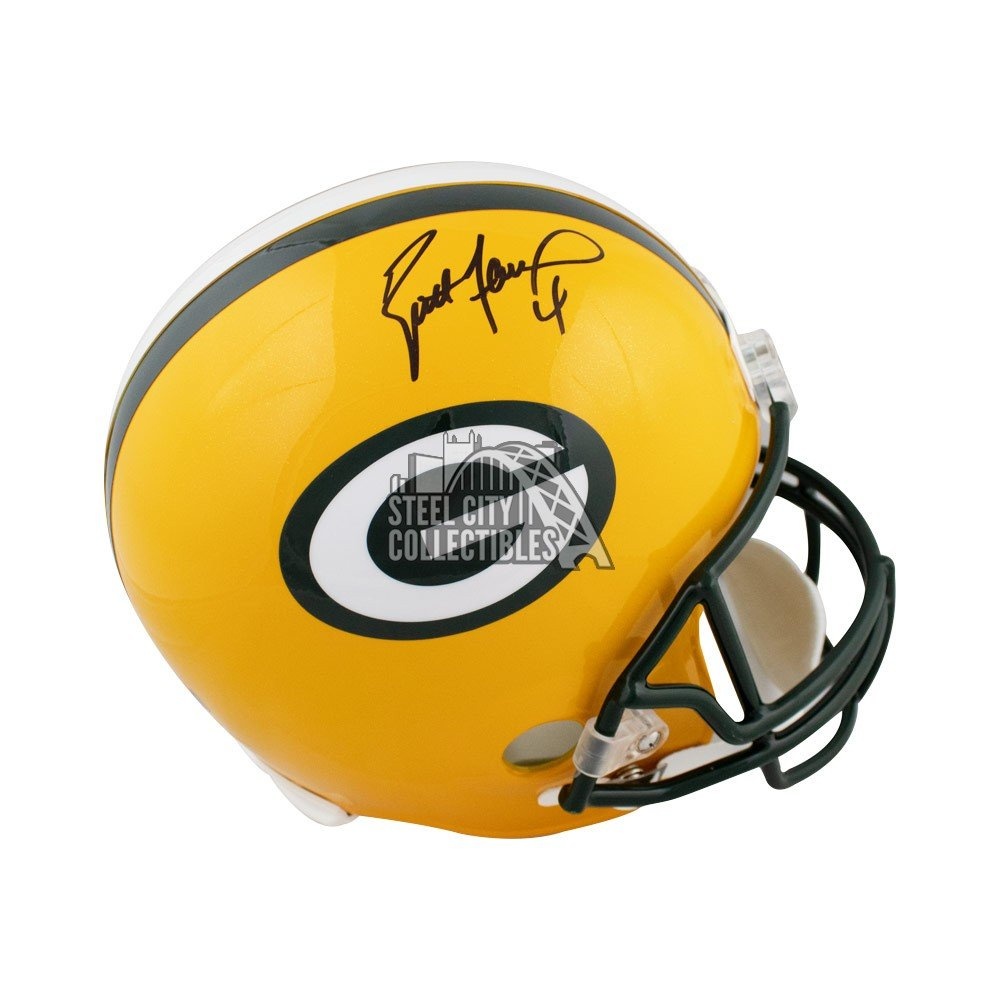 huge discount 12215 1022f Brett Favre Autographed Green Bay Packers Full-Size Football Helmet - JSA  COA