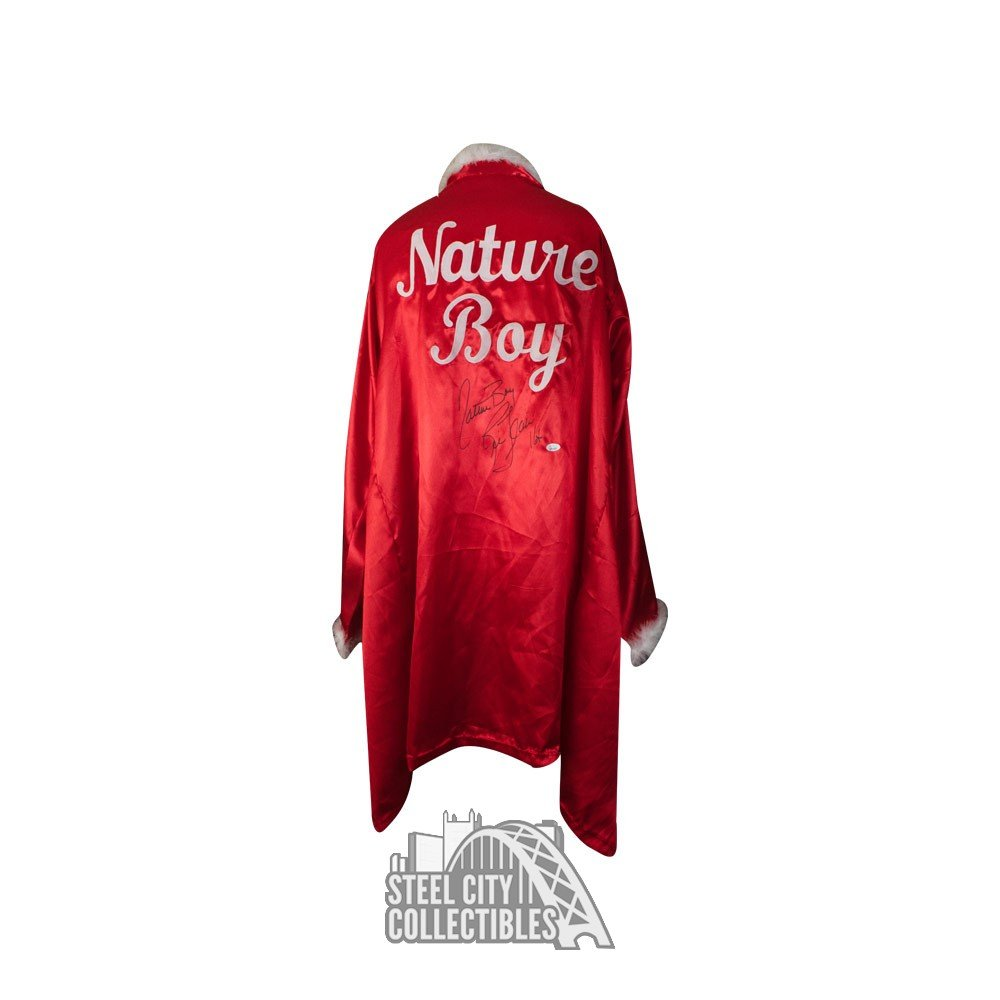 Ric Flair Autographed Red Feather Nature Boy Robe Autographs and Signed Memorabilia