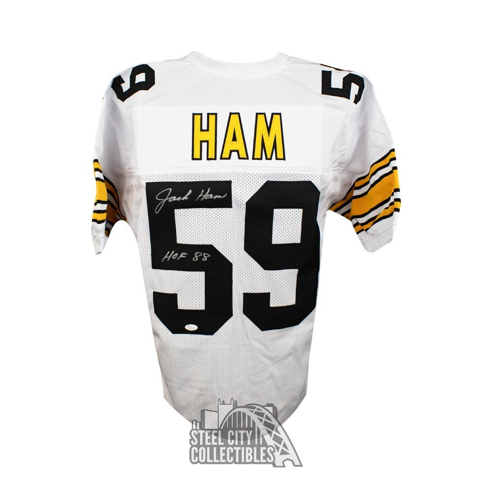 b7758f1a7f0 Jack Ham HOF Autographed Pittsburgh Steelers Custom White Football Jersey  JSA | Steel City Collectibles
