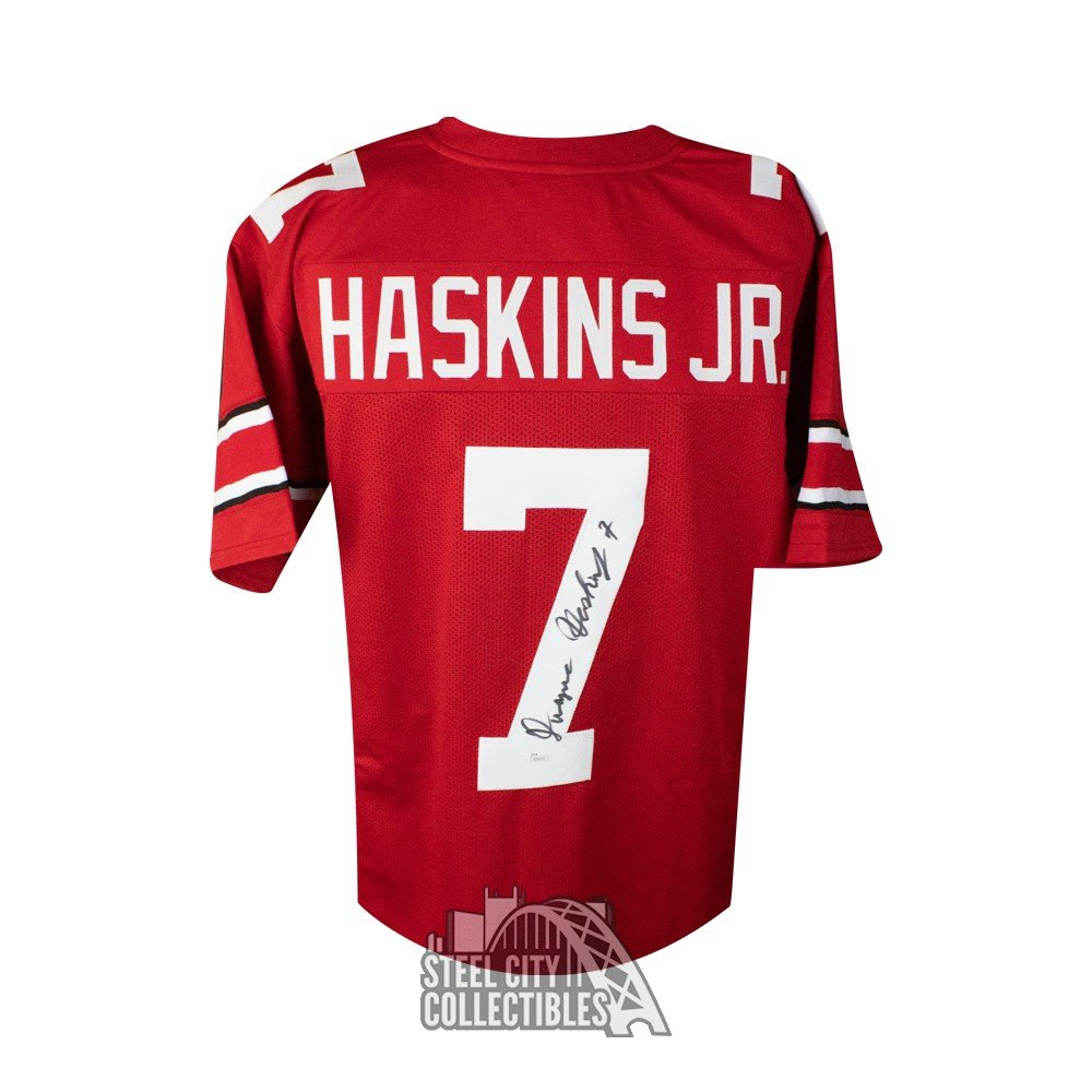 7e77478e5dd Dwayne Haskins Autographed Ohio State Custom Red Football Jersey - JSA COA  | Steel City Collectibles