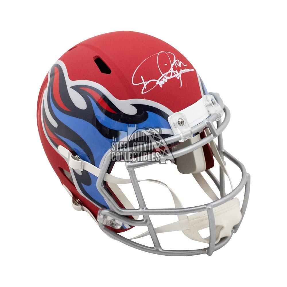 Derrick Henry Autographed Tennessee Titans Amp Replica Full Size Football Helmet Bas Coa Steel City Collectibles