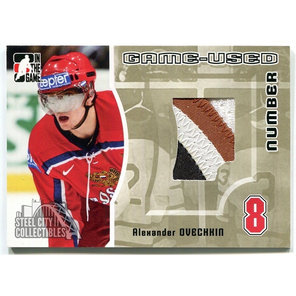 buy online 4c4c2 3ad0c Alex Ovechkin 2005-06 ITG Heroes Prospects Capitals Game Used Jersey Gold  /10
