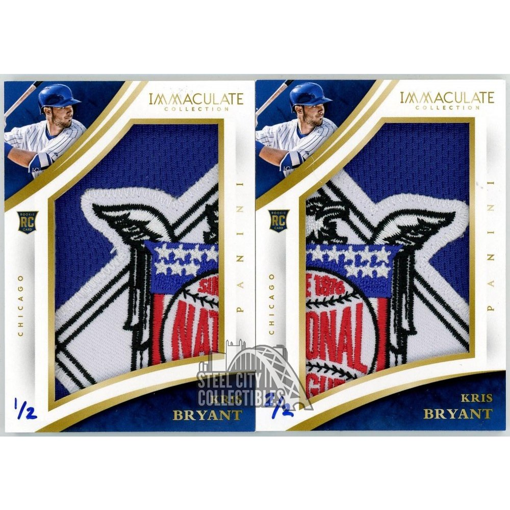 Kris Bryant 2015 Panini Immaculate Jumbo National League Logo Patch Rc Card Set 12 22