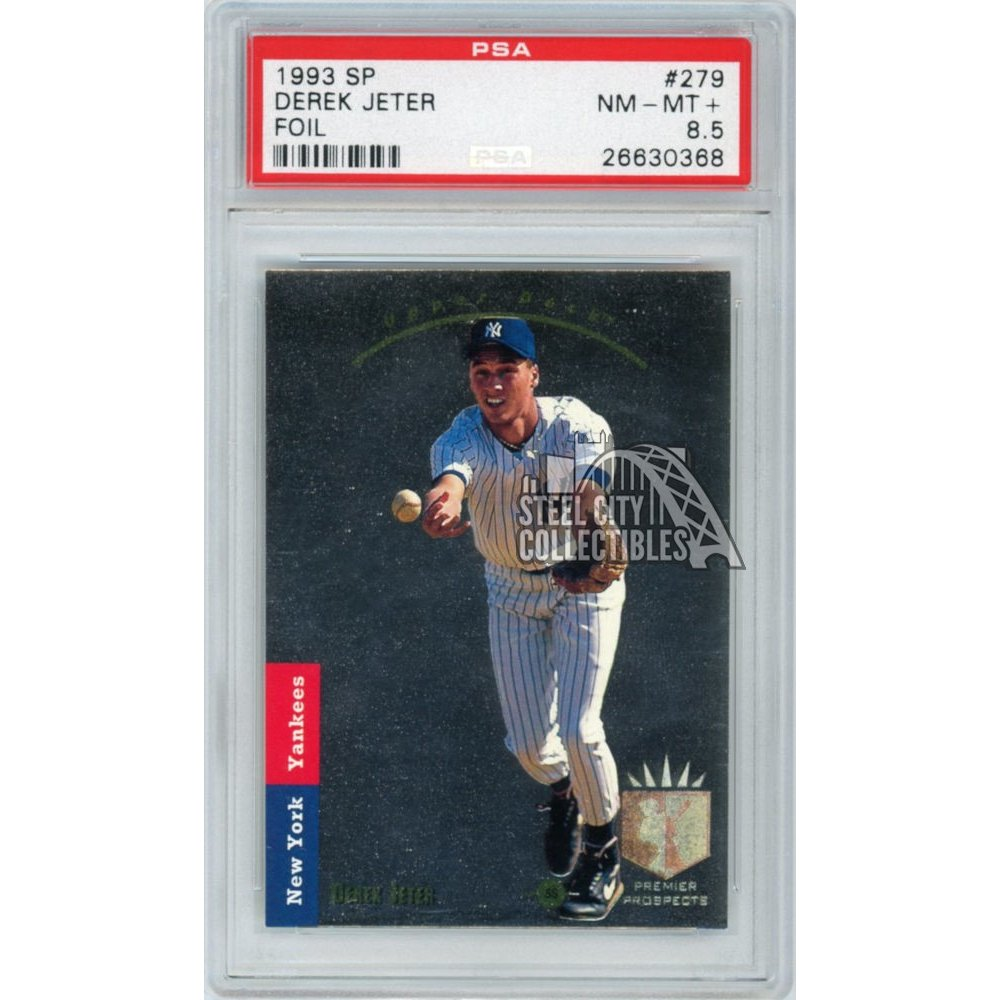 Derek Jeter 1993 Upper Deck Sp Baseball Foil Rookie Card 279 Psa 85 Nm Mt