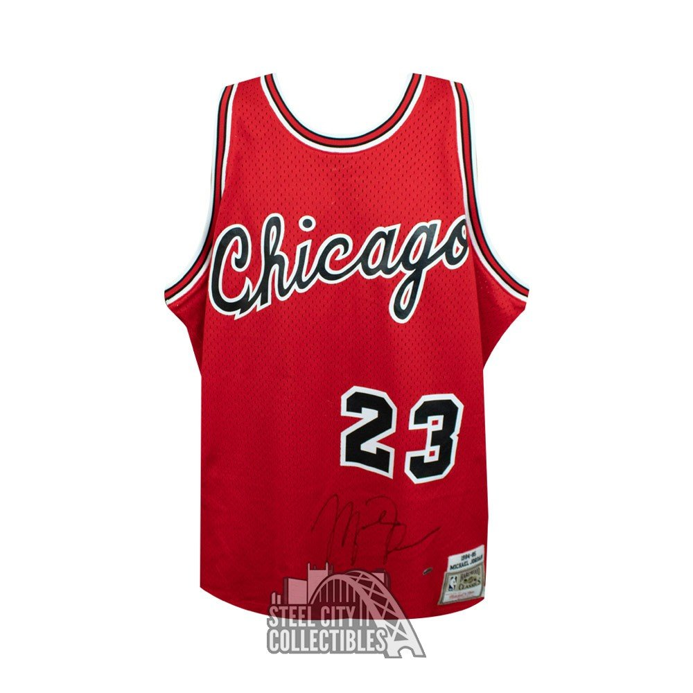 dd924d9eb75 Michael Jordan Autographed Chicago Bulls Mitchell   Ness Rookie Jersey -  UDA