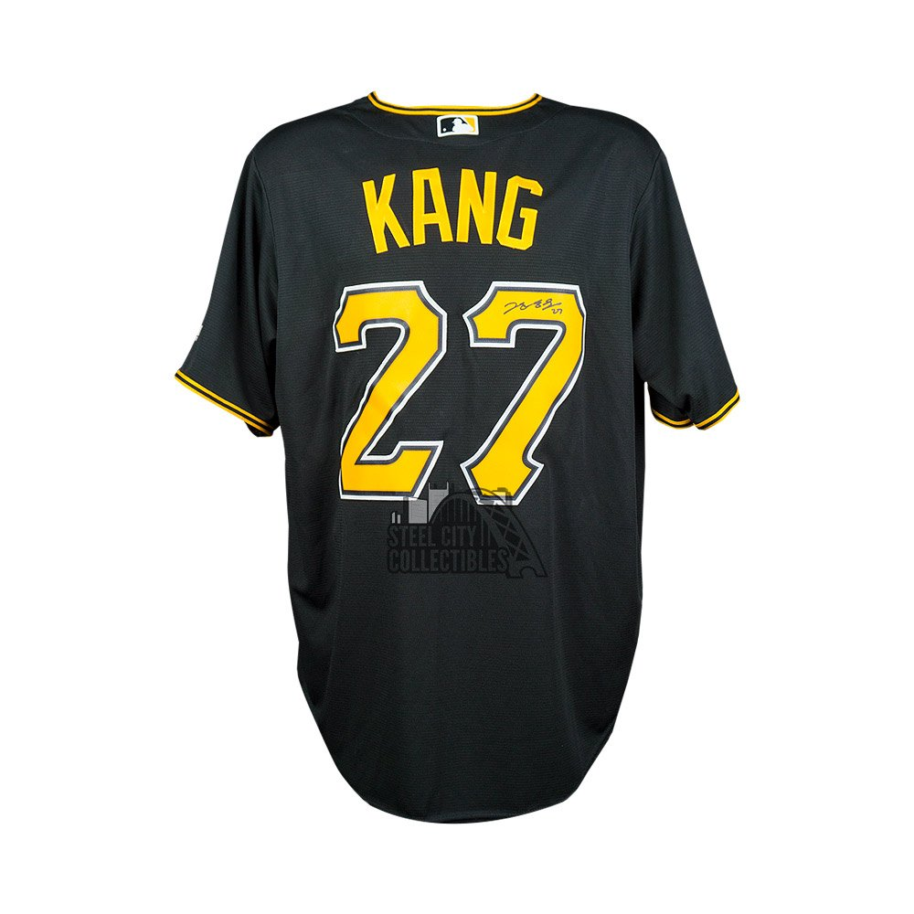 082d5261a Jung Ho Kang Autographed Pittsburgh Pirates Majestic Cool Base Black Jersey  - MLB Hologram