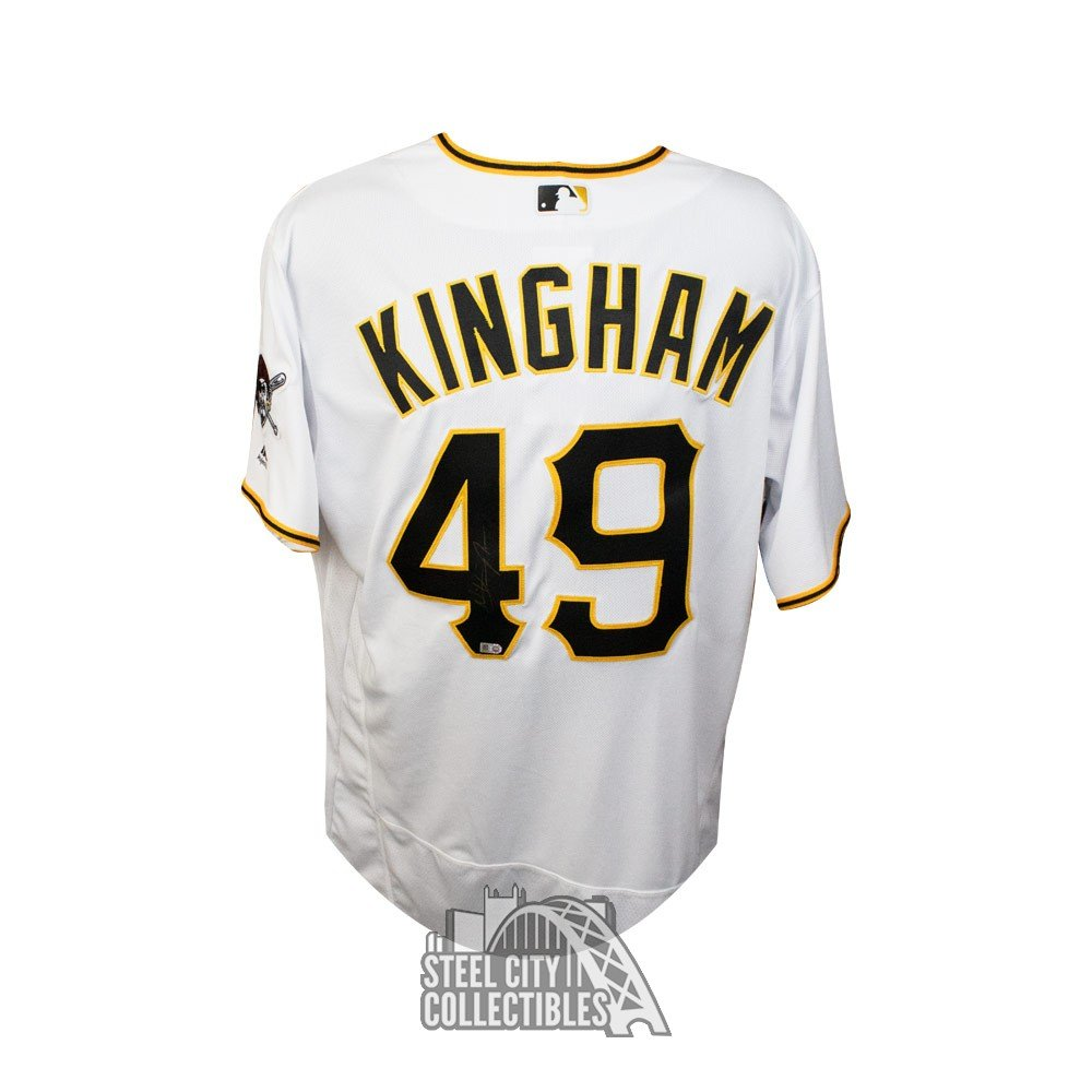 new product 0c850 76155 Nick Kingham Autographed Pittsburgh Pirates Majestic Authentic Baseball  Jersey - MLB Hologram
