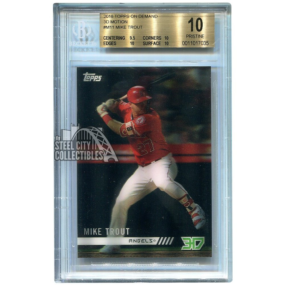 Mike Trout 2018 Topps On Demand 3d Motion Baseball Card Bgs 10 Pristine