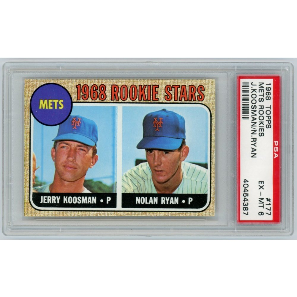 Nolan Ryan Jerry Koosman 1968 Topps Baseball Rookie Card
