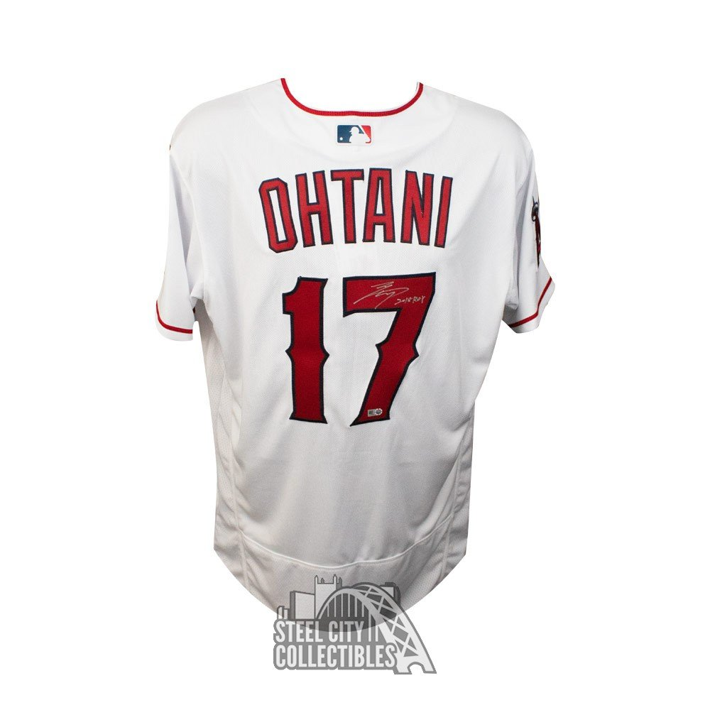 purchase cheap 385c3 81085 Shohei Ohtani 2018 ROY Autographed Los Angeles Angels Authentic Baseball  Jersey - MLB Hologram