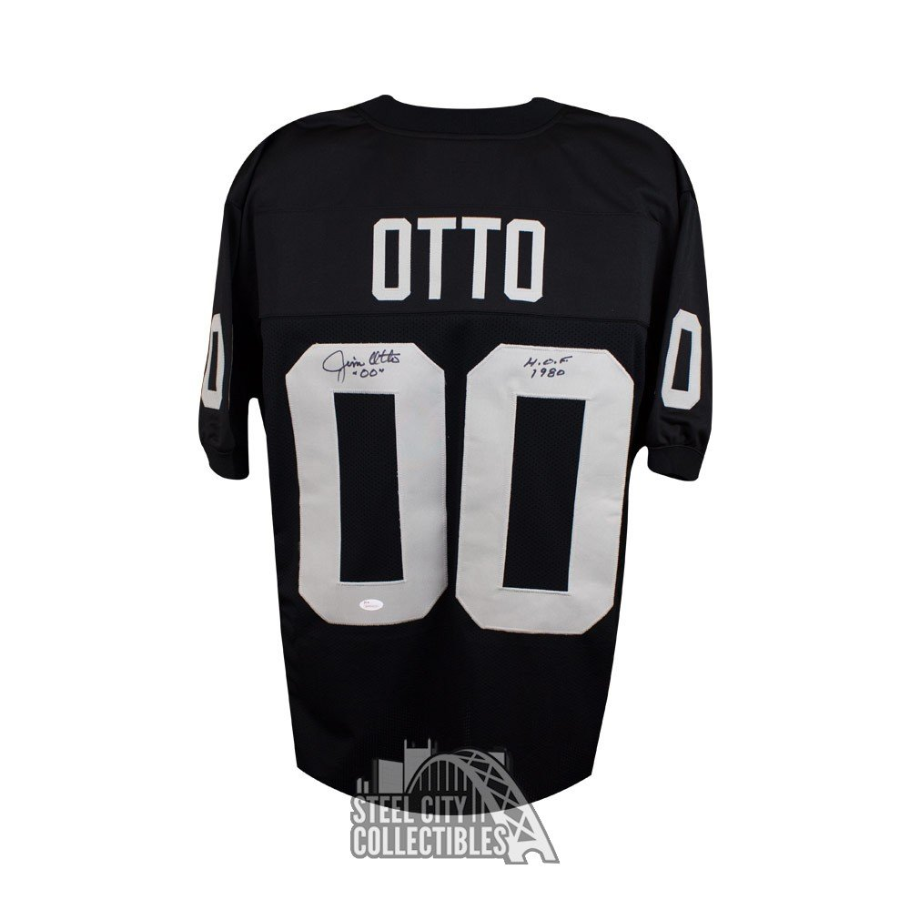 uk availability 2a4ed b40ad Jim Otto HOF Autographed Oakland Raiders Custom Black Football Jersey - JSA  (B)
