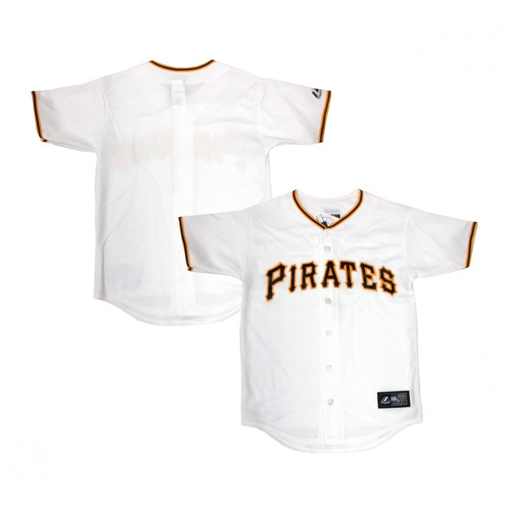 the latest 29747 5664a Pittsburgh Pirates Majestic MLB Youth Home White Replica Jersey