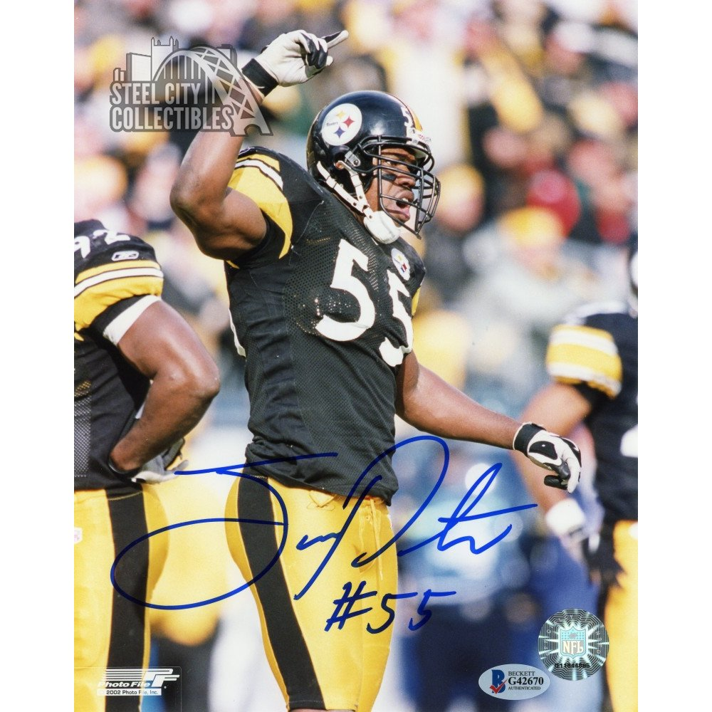 9e9c6cf5d28 Joey Porter Autographed Pittsburgh Steelers 8x10 Photo - BAS COA | Steel  City Collectibles