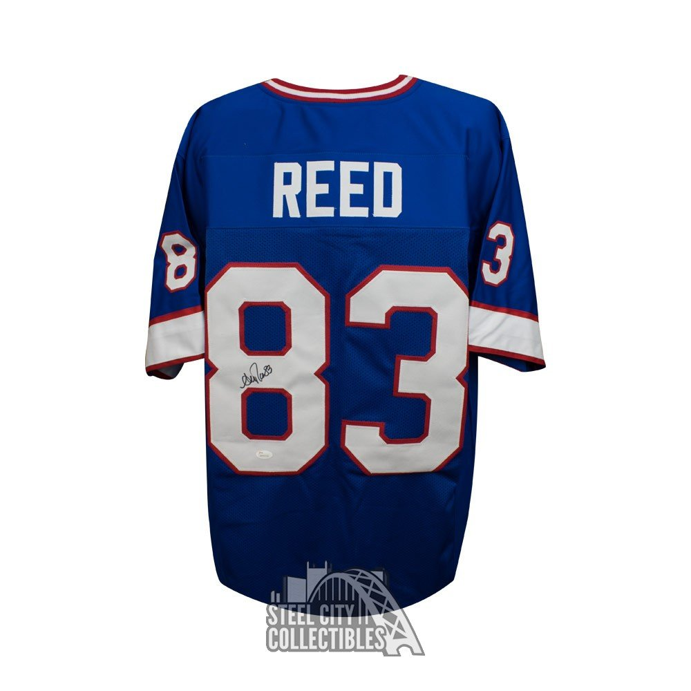 a01ab74e8bf Andre Reed Autographed Buffalo Bills Custom Blue Football Jersey - JSA COA  | Steel City Collectibles