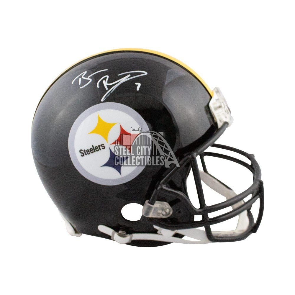 Ben Roethlisberger Autographed Steelers Authentic Full Size Football Helmet Bas Coa Steel City Collectibles