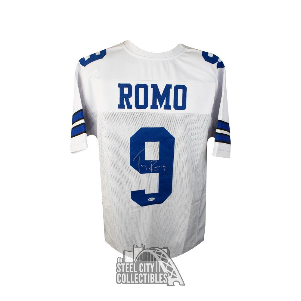 detailed look f8db3 f57c4 Tony Romo Autographed Dallas Cowboys Custom Football Jersey - BAS COA