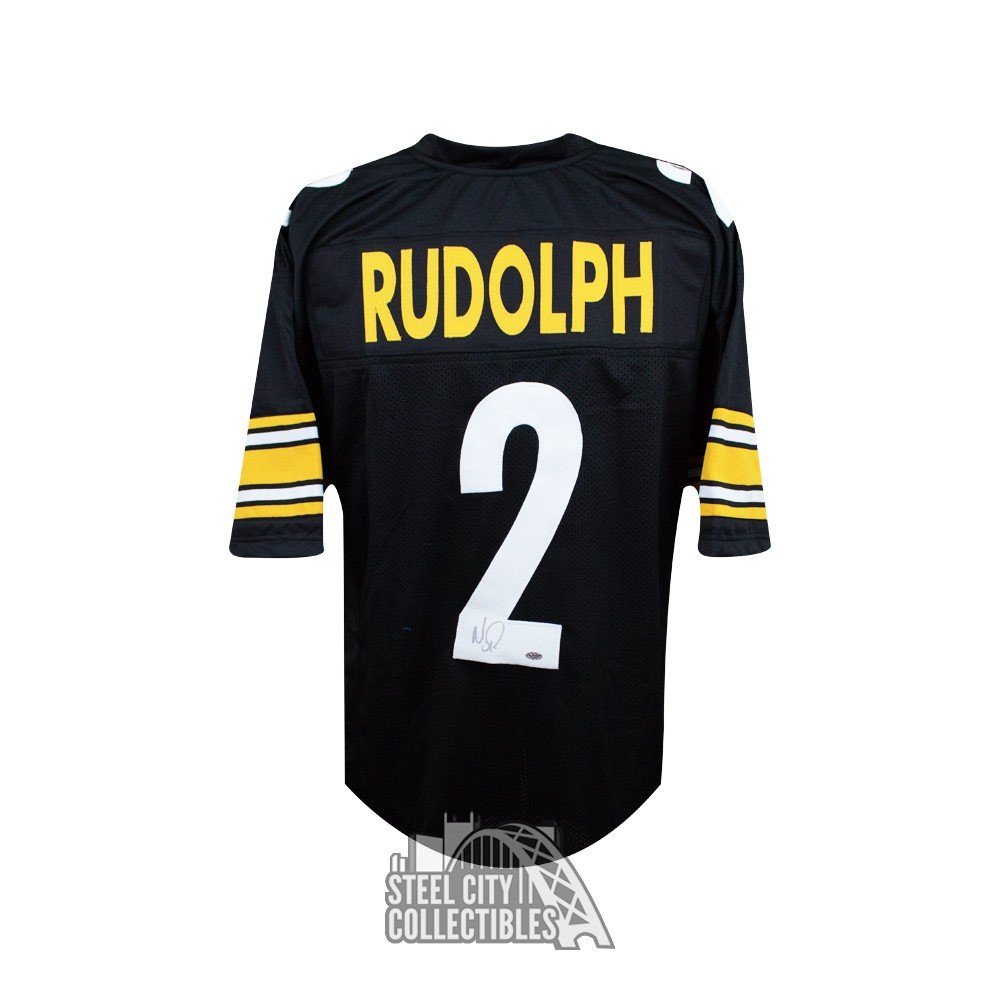 Hot Mason Rudolph Autographed Pittsburgh Steelers Custom Football Jersey  free shipping