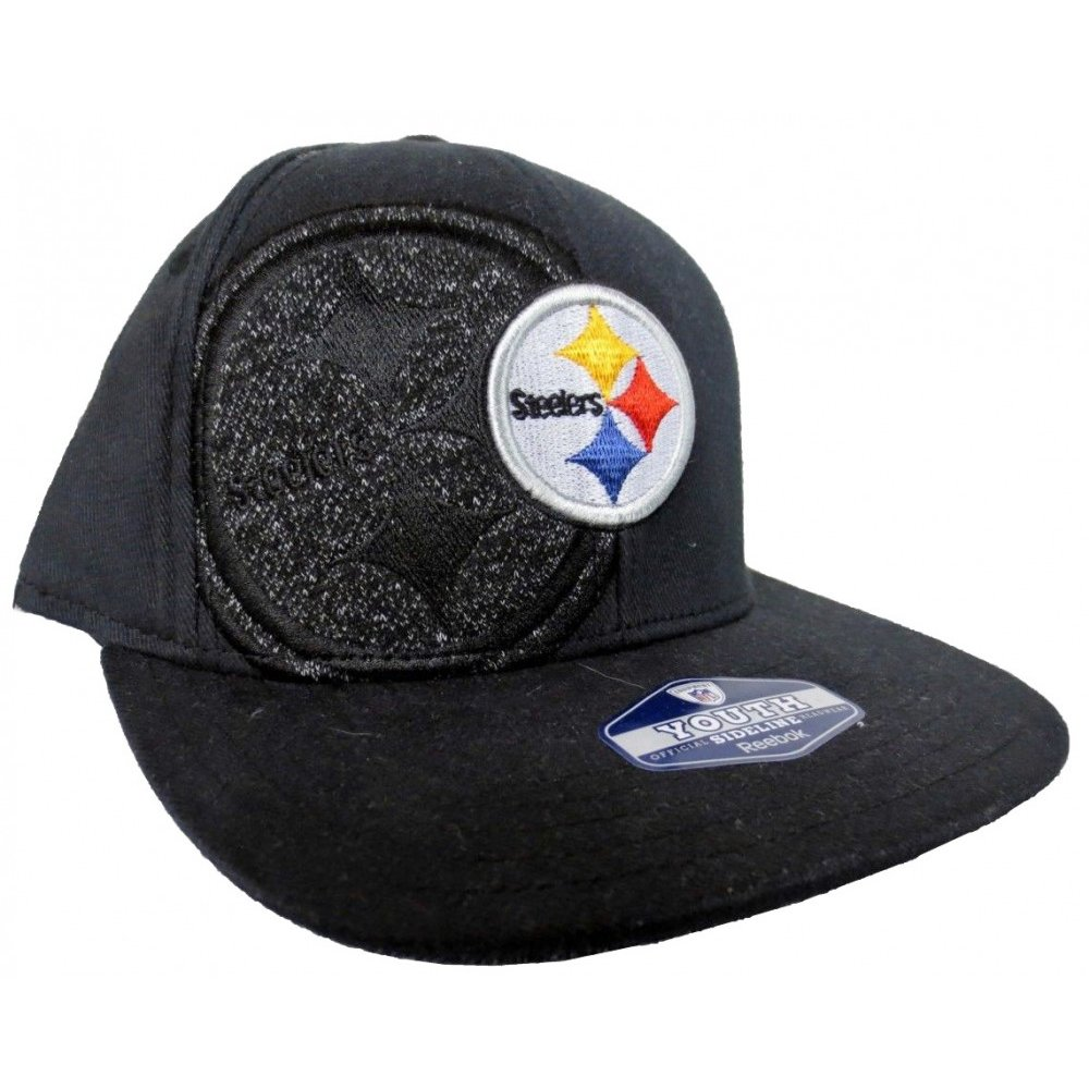 10c942eef Pittsburgh Steelers NFL Reebok Sideline Player Onfield Black Fitted Hat -  Youth 4-7 Years