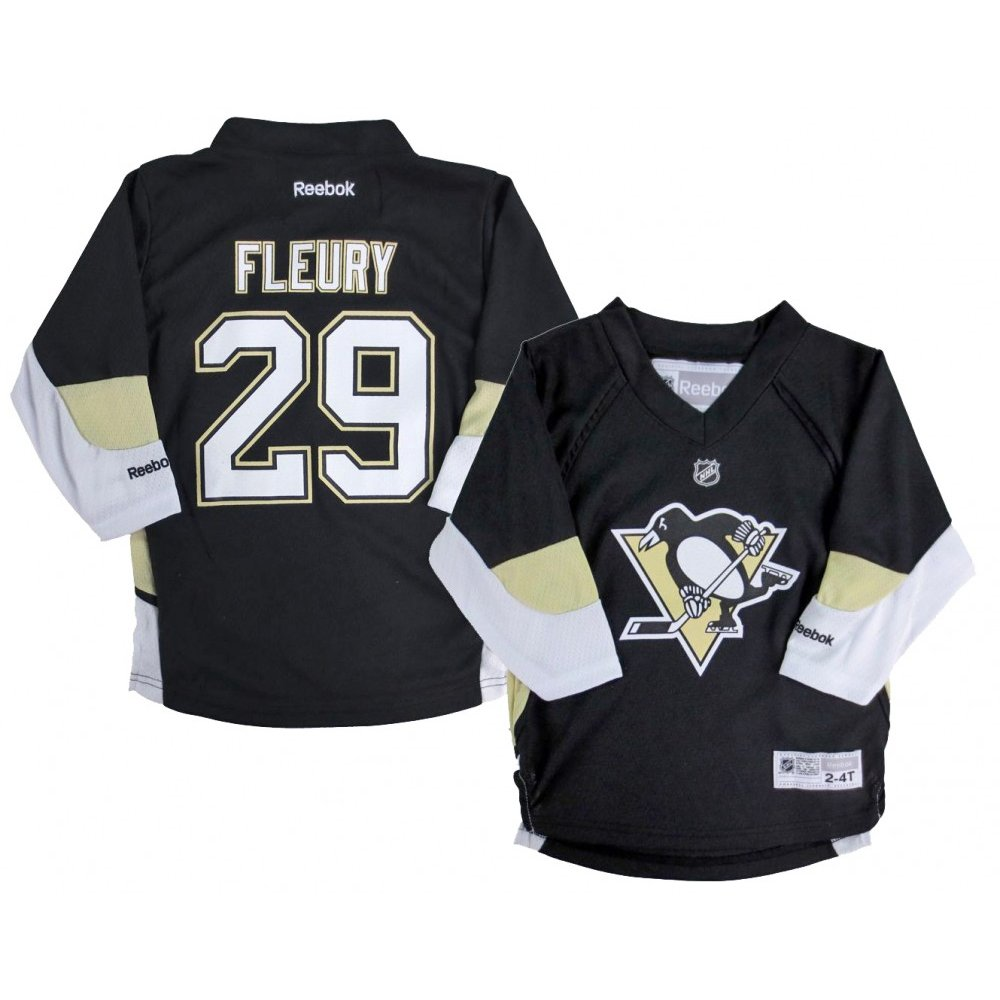 finest selection 85a85 7affb Marc-Andre Fleury Pittsburgh Penguins Reebok NHL Infant Home Black Replica  Jersey