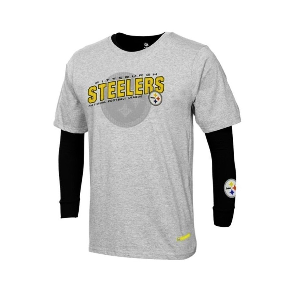 Pittsburgh Steelers Reebok NFL Youth Gray Black Option 3-in-1 ... 5bf549bc2