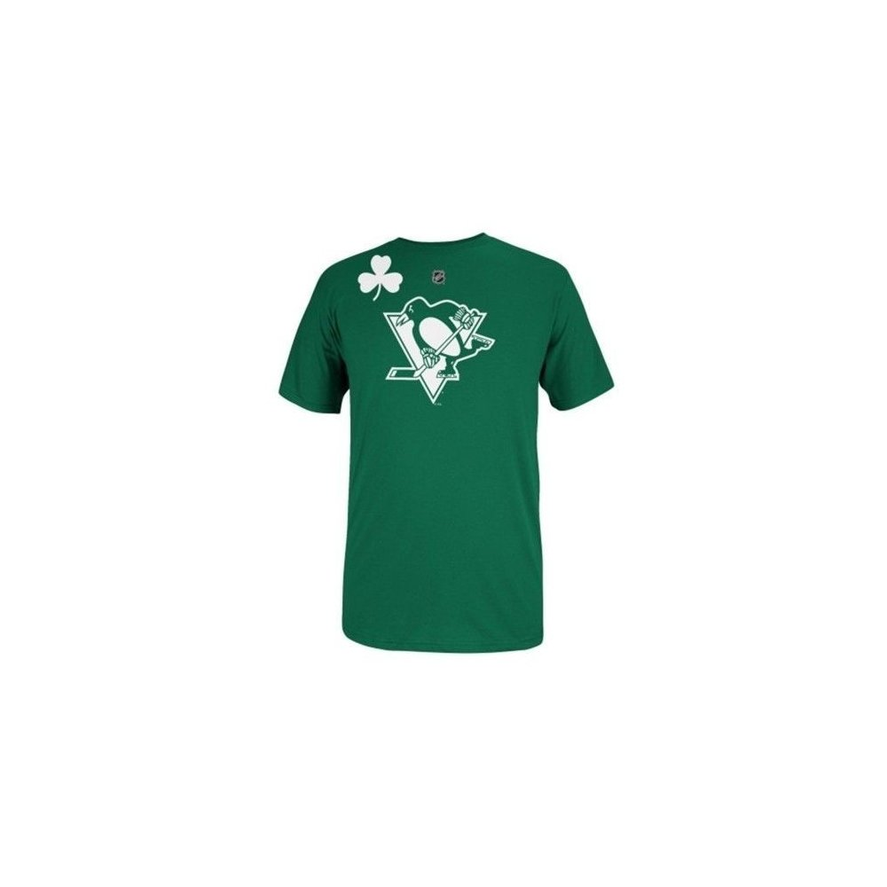 official photos bbf2f 41fdd Pittsburgh Penguins Reebok NHL St. Patrick's Day Irish Green T-Shirt