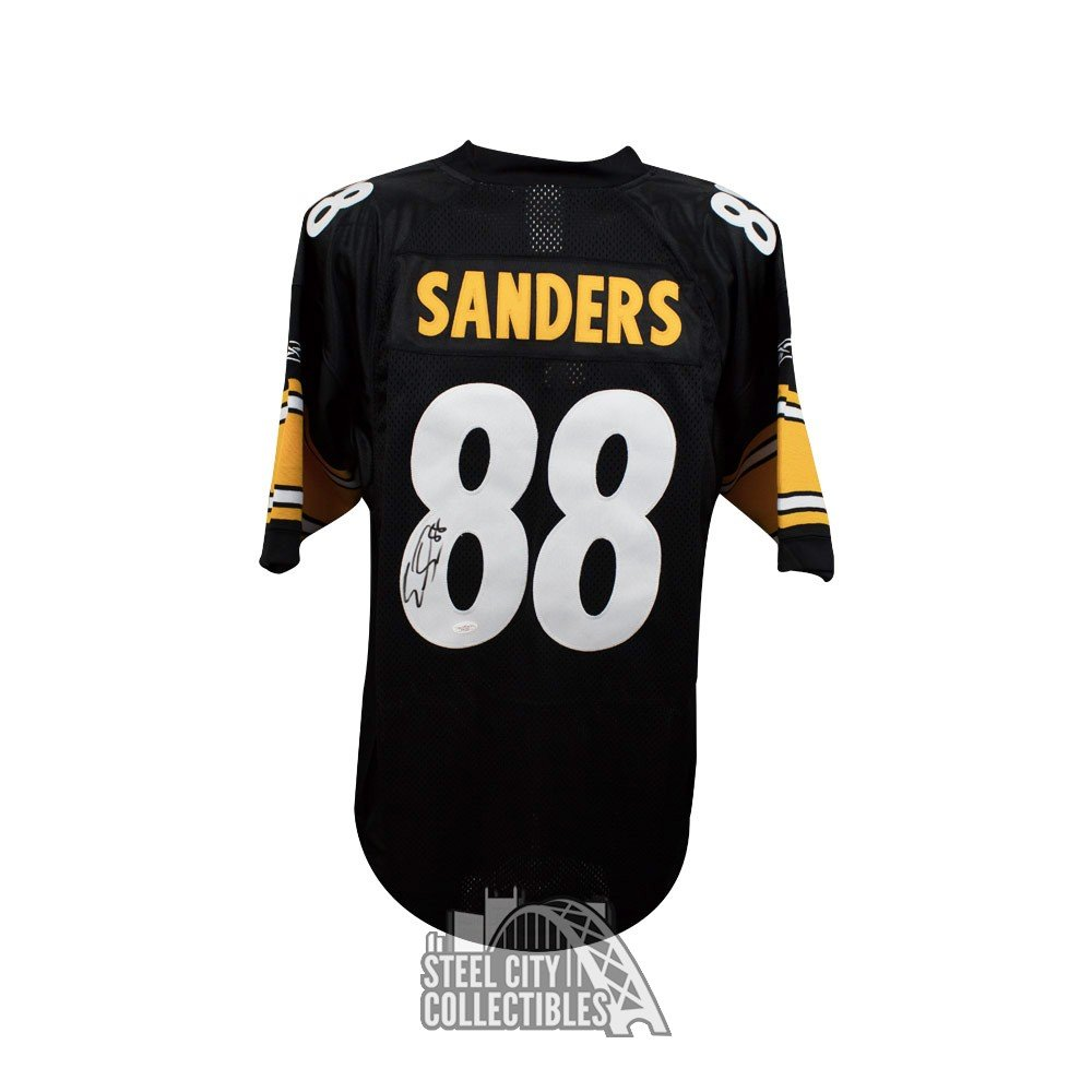 4350f7a04 Emmanuel Sanders Autographed Pittsburgh Steelers Black Authentic Football  Jersey - JSA COA | Steel City Collectibles