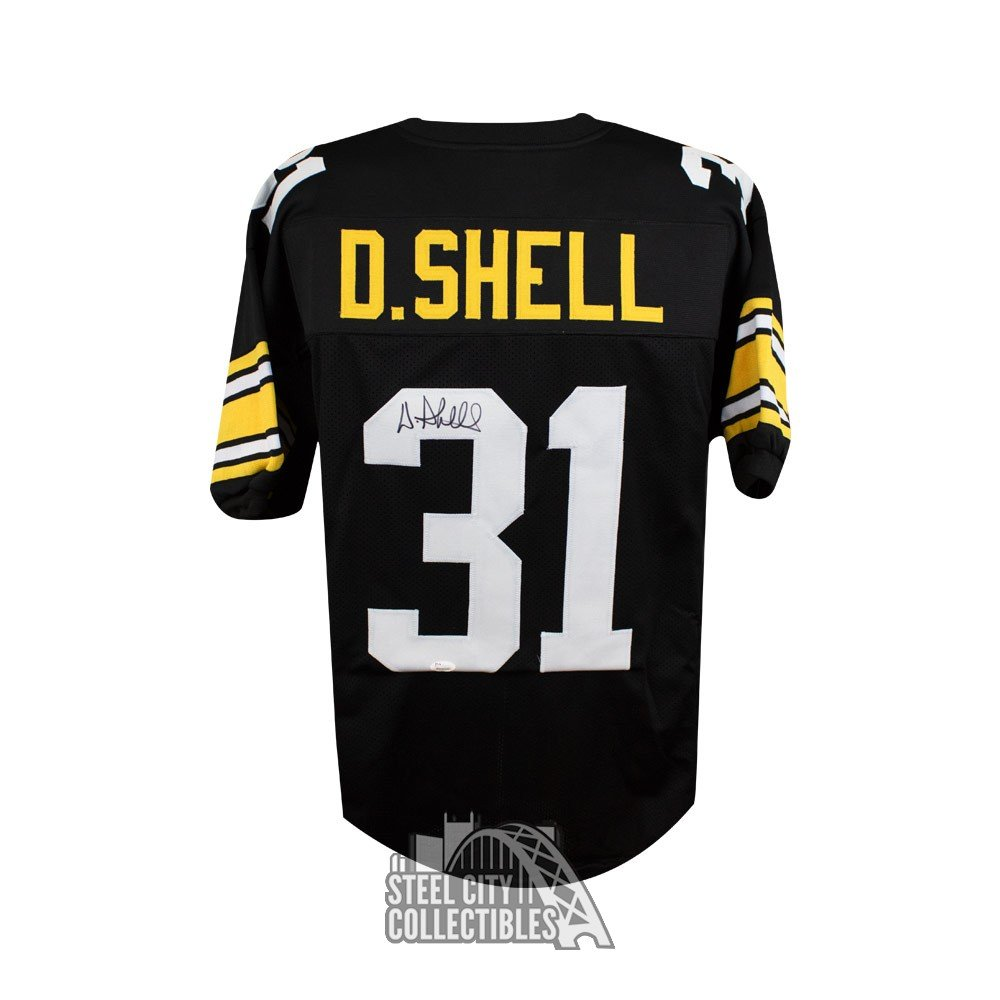 0788a6d05e3 Donnie Shell Autographed Pittsburgh Steelers Custom Black Football Jersey -  JSA | Steel City Collectibles