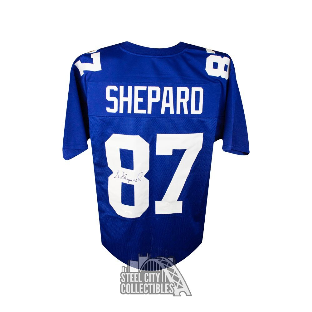 reputable site 6cffe a35a0 Sterling Shepard Autographed New York Giants Custom Football Jersey - JSA  COA