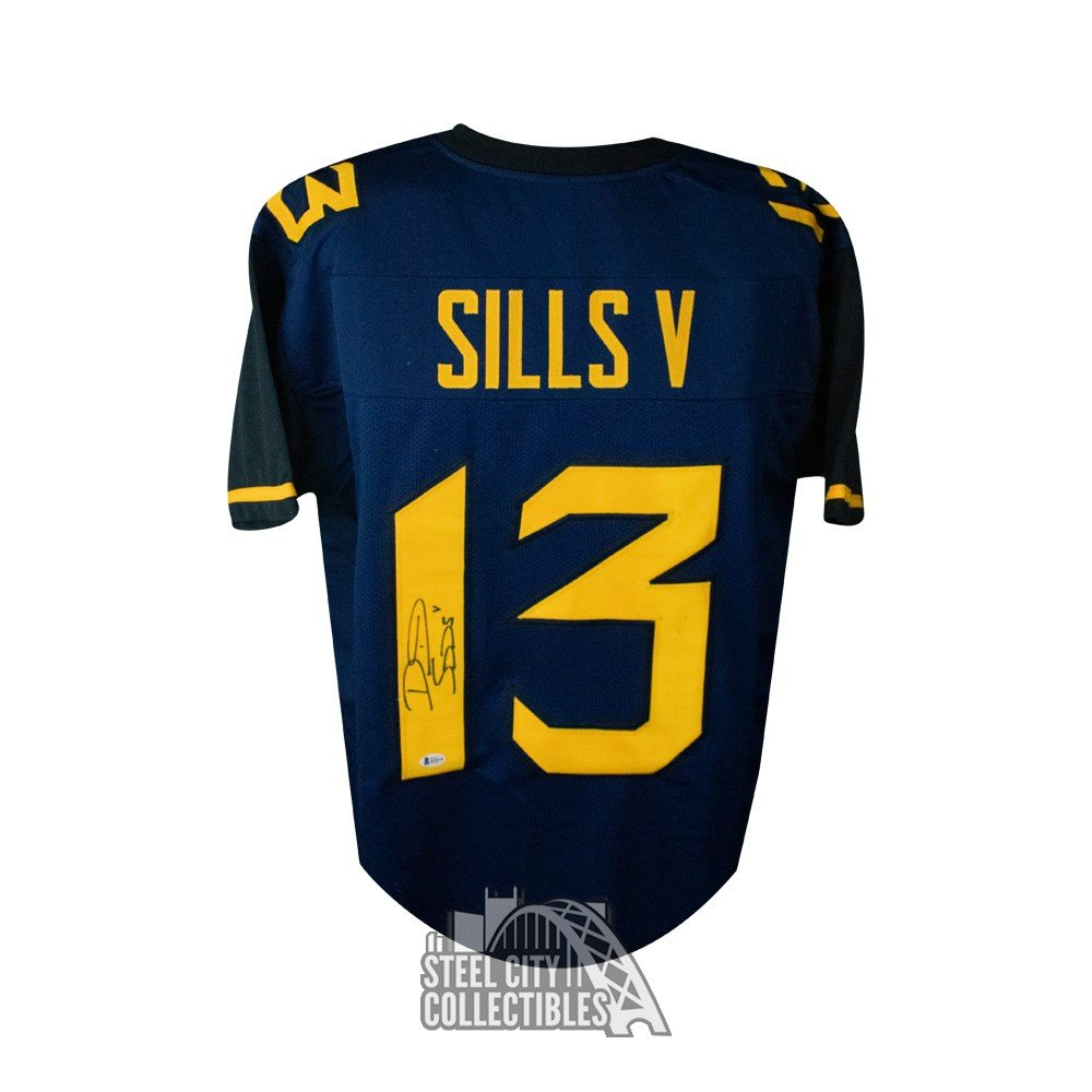 online store 007bd 4bf10 David Sills V Autographed West Virginia Custom Football Jersey - BAS COA