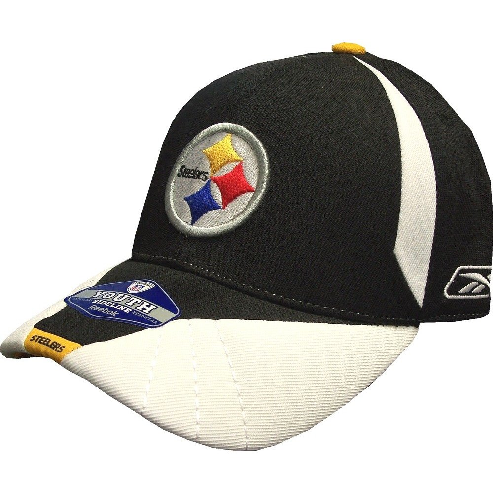 3765320d Pittsburgh Steelers NFL Reebok Sideline Black/White Hat - Youth 4-7 Years