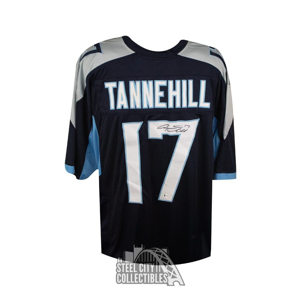 Ryan Tannehill Autographed Tennessee Titans Custom Football Jersey Bas Coa Steel City Collectibles
