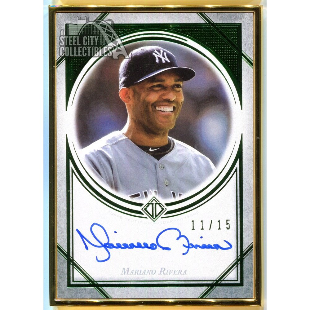 Mariano Rivera 2018 Topps Transcendent Autographed Green Parallel Card 1115