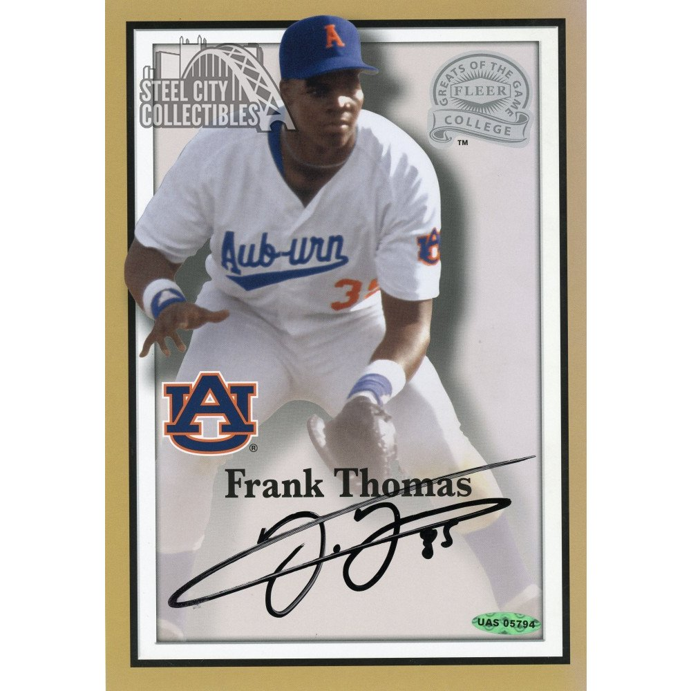 Frank Thomas Autographed Fleer Greats Of The Game Jumbo Card